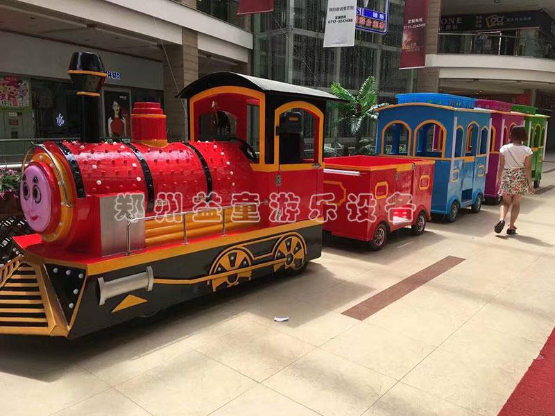 商场仿gu无轨观guang火车